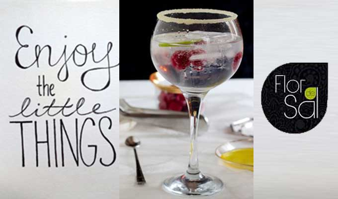 Receta Gin Tonic con aceite de oliva virgen arbequina Flor de Sal